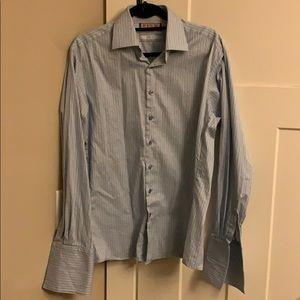 Thomas Pink slim fit French cuff dress shirt.